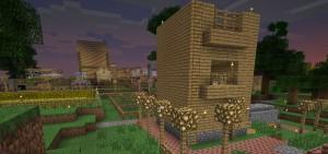 Ein Dorf auf einem Multiplayerserver