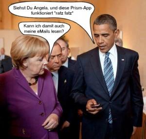 Frau Merkel und Herr Obama zu PRISM